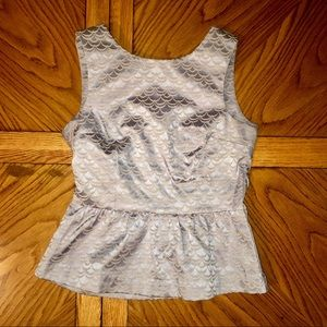 Mermaid Peplum Tank Top